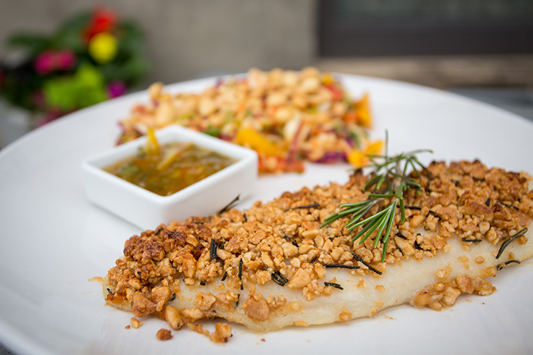 Rosemary-crusted grouper